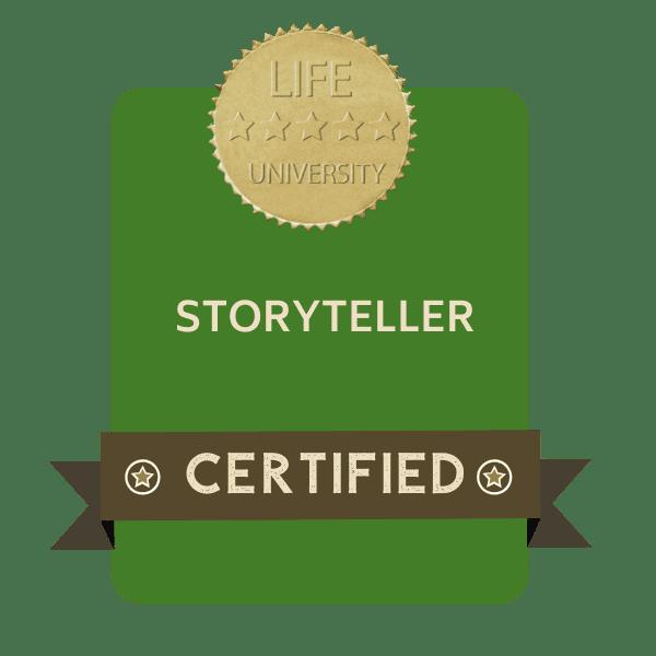 badge storyteller